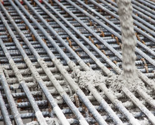 Dufferin Concrete, concrete Pour at the U-Condo project