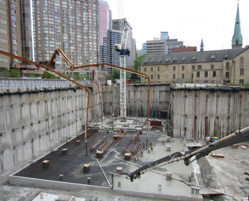 Dufferin Concrete pour for U condo