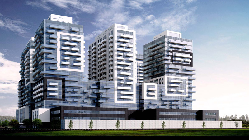 Dufferin Concrete Paradigm condos Burlington animated design