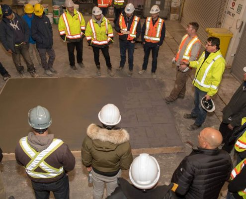 Customer and employee Q&A session after the Dufferin Concrete Demo Day