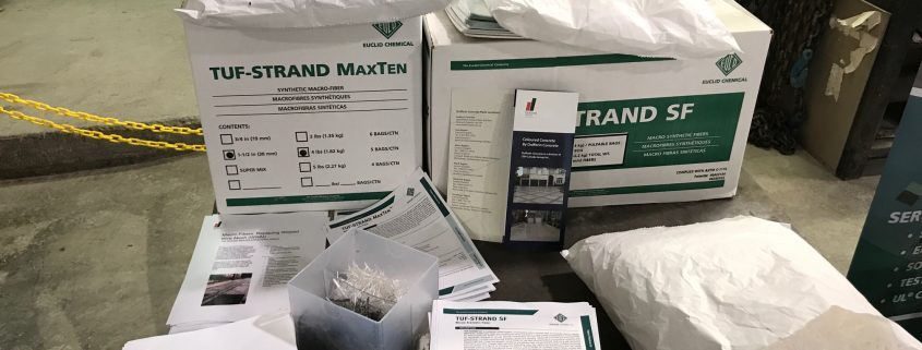 Box's of sample TufStrandSF Maxten Fibre strands and description papers of the fibres